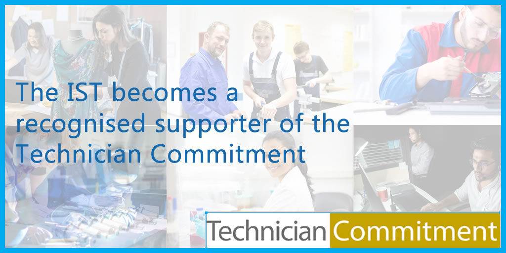 IST recognised as Technician Commitment Supporter